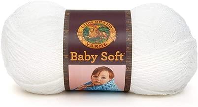 Lion Brand Babysoft Yarn (200) White Pompadour, White
