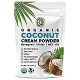 Earth Circle Organics - Organic Coconut Cream | Milk Powder, Perfect Keto Coffee Creamer - High in MCT Oil, Vegan, No Added Sugar, Gluten and Dairy Free - 1 Pound