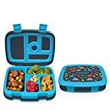 Bentgo Kids Prints Leak-Proof, 5-Compartment Bento-Style Kids Lunch Box - Ideal Portion Sizes for Ages 3 to 7 - BPA-Free and Food-Safe Materials - 2020 Collection - Dinosaur
