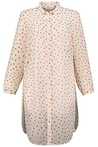 Studio Untold Damska bluzka długa, bluzka w kształcie serca