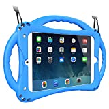 TopEsct Funda para iPad Mini Niños Shock Proof Material Silicona Lightweight Kids Protector Cover Case con Manija para Apple iPad Mini 5/Mini4/Mini3 / Mini2 / Mini1 (iPad Mini, Azul)
