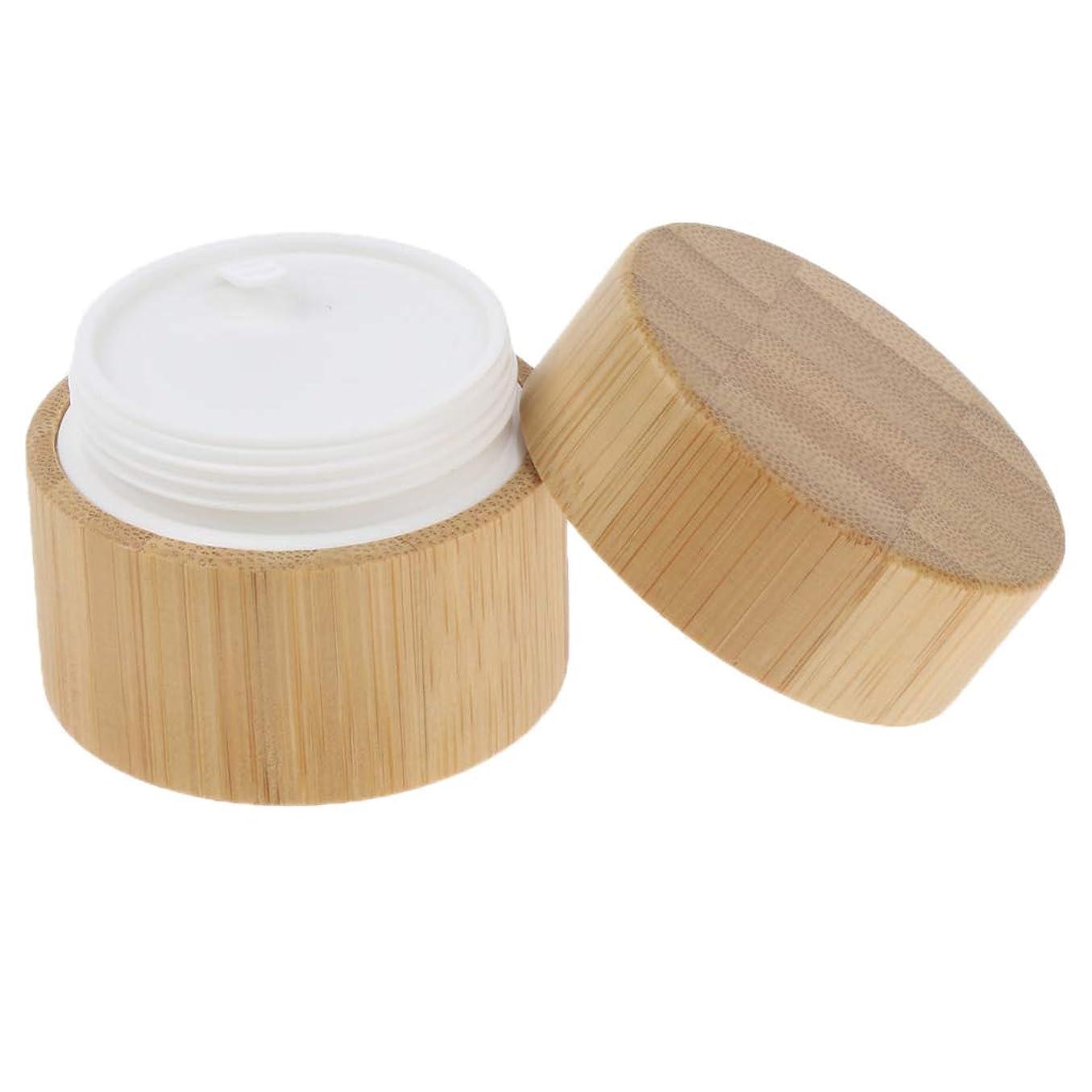 贅沢領域贅沢FLAMEER ナチュラル 竹木 ラウンド クリームコンテナ リップバーム コスメ 化粧品容器 2サイズ選べ  - 30g