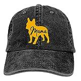 Onled Gorras de béisbol para hombres y mujeres-Bulldog francés Gorra deportiva ajustable Trucker sombrero de vaquero