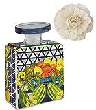 Maroc & Roll - Sicily Bottiglia Mini DIFFUSORE Profumo Ambiente in Porcellana con Fiore di Corteccia di GELSO 100ml - SBTMINI.B&R03
