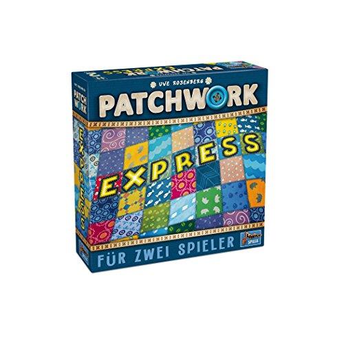 Lookout Games 22160105 Patchwork Express - La Variante más Sencilla de Patchwork para jóvenes y Mayores de Uwe Rosenberg para Dos Jugadores.