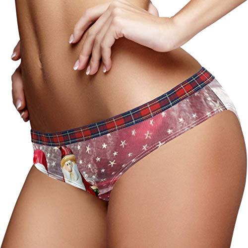TIZORAX Kerst Keramische Santa Vrouwen Ondergoed Bikini Mode Dames Korte Panties
