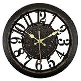 Foxtop 28 cm Vintage Reloj de pared silencioso con barrido silencioso decorativo para...