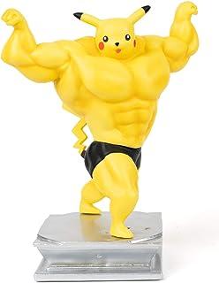 KALAMADA Anime Action Figure GK Pikachu Figure Statue Figurine Bodybuilding Series Collection Birthday Gifts PVC 7 inch
