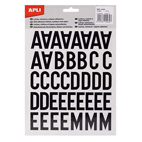 APLI 4430 - Adesivi con lettere, numeri, segni 30 mm