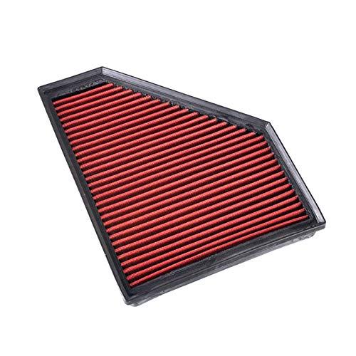 TXKMO Filtro de admisión de Aire de Aire Acondicionado de Repuesto/Ajuste para BMW E81 E82 E84 X1 E88 116 E90 E91 E92 E93 335i Puede ser Lavado y reutilizado (Color : Black)