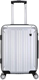 IhDFR Cabin Bag,Trolley case- Universal Wheel Trolley Case 20/24 Inch Suitcase Password Box Boarding Suitcase for Men and Women (Color : Rose Gold, Size : 20in) (Color : Silver, Size : 20in)