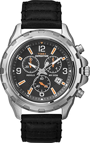 Timex Reloj Cronógrafo para Hombre de Cuarzo con Correa en Cuero T49985