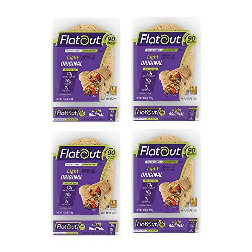 Flatout Wraps, Light Original (4 Packs of 6 Flatbreads)