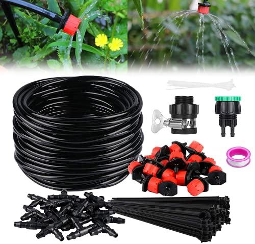 TedGem 20m Impianto a Goccia Irrigazione, DIY Micro Drip Kit Micro Sistema di Irrigazione,...