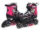 CHICAGO Skates Girls Adjustable Inline Skates - Large Sizes 5-9 - Pink