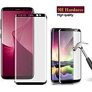 Panzerglas Schutzfolie für Samsung Galaxy S8 , Hohe Qualität Blasenfreie 3D Displayschutzfolie Gehärtetem [Ultra Klar] [9H Härtegrad] [Anti-Kratzen] [Anti-Fingerabdruck] Gehärtetes Glas Panzerglas Folie für Samsung Galaxy S8 Plus
