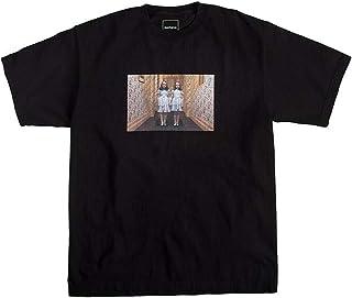 SMURAB Grady Twin Daughter アメリカ ホラー映画 The Shining メンズ/レディース Tシャツ/夏服 スポーツ Tシャツ ブラック/半袖 Tシャ