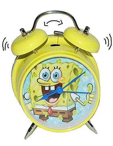 alles-meine.de GmbH Kinderwecker Spongebob - für Kinder Metall großer Wecker Analog - Alarm Metallwecker - Schwammkopf Robert Jungen Mädchen