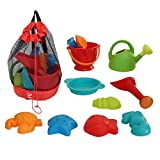 Hape Beach Toy Essential Set, Sand Toy Pack, Mesh Bag Included, E8603