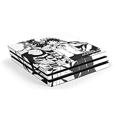 Skinit Decal Gaming Skin for PS4 Pro Console - Officially Licensed Funimation All Might and Deku Black and White Design