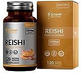 GH Suplemento de Hongo Reishi Capsulas del extracto 15:1   120 Cápsulas Veganas de para la Fatiga y la Defensa del Sistema Inmunitario   Sin Alérgenos, Lácteos o Gluten