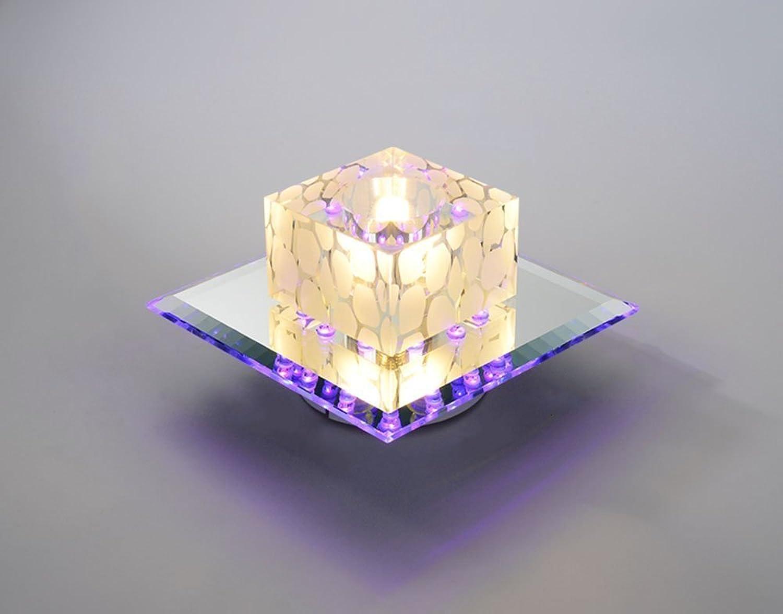 GRY Hohe Qualitt K9 Kristall LED Deckenleuchte, Moderne Mini Deckenleuchte für Flur, Korridor, Gang, Treppen, Schlafzimmer (Oberflchenmontage)