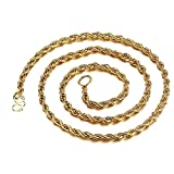 AMOZ Womens Necklaces Amp, Pendants, 18K Gold Long Chain Necklace Men Jewelry Brand Gothic Gold Color Male Necklace, Jewelry Amp, Watches for Christmas Valentine s Day Fashion