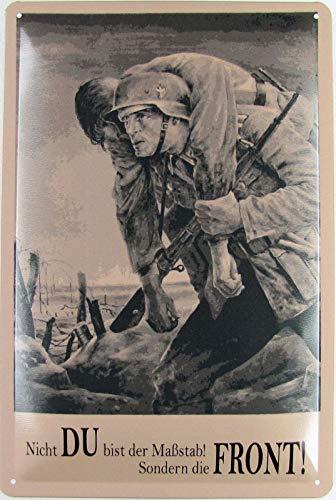 Blechschild 20x30cm gewölbt Nicht du bist der Massstab Wehrmacht Soldaten Deko Geschenk Schild