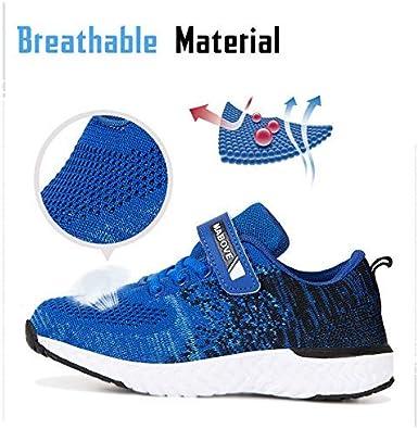 Kyopp Laufschuhe Kinder Turnschuhe f/ür M/ädchen Jungen Sportschuhe Kinderschuhe Outdoor Sneakers Klettverschluss Atmungsaktiv Unisex