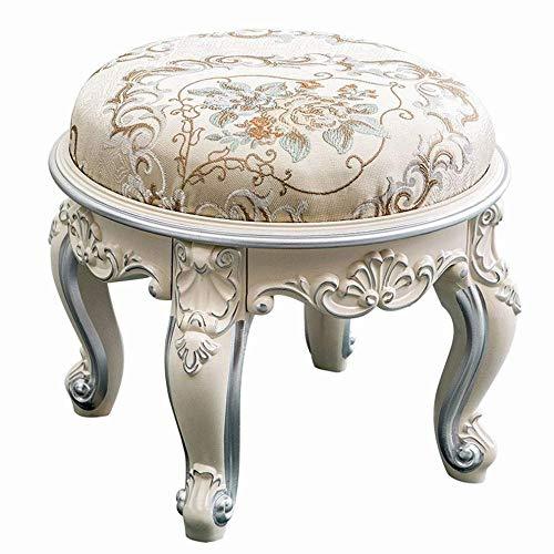 G'z Europese salontafel krukje ronde stof ivoor wit gesneden woonkamer schoenen bank, zoals laten zien,1