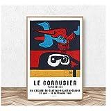 KONGQTE Le Corbusier Lithografisches Vintage Poster