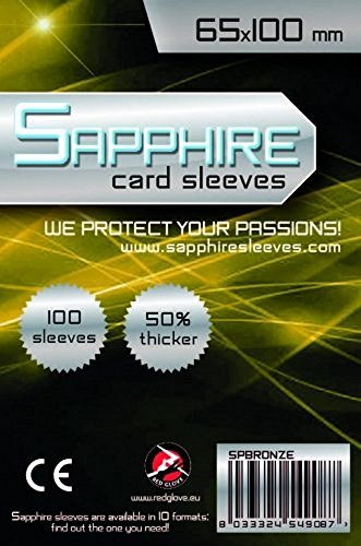 Red Glove Sapphire Card Sleeves Bronze 65x100 mm - 100 pcs