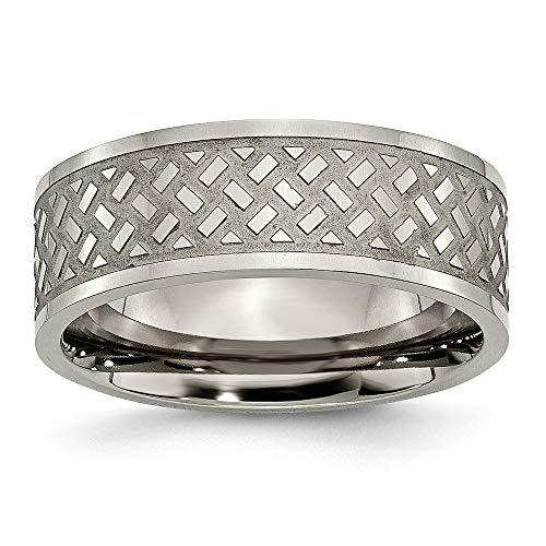 Diseño de la armadura de titanio de 8 mm de tamaño de anil