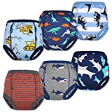 MooMoo Baby Cotton Training Pants Strong Absorbent Toddler Potty Training Underwear for Baby Boy 4T