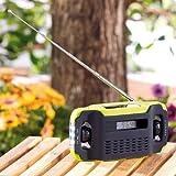 infactory Kurbelradio: Batteriefreies Solar- & Dynamo-Koffer-Radio mit LED-Lampe (Notfallradio) - 3