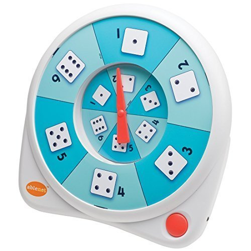 AbleNet 10070003 All-Turn-It Spinner, Includes a Dice Overlay Set and Separate Instructions for Play with Numerous Games and Activities Including Commercially-available Board Games