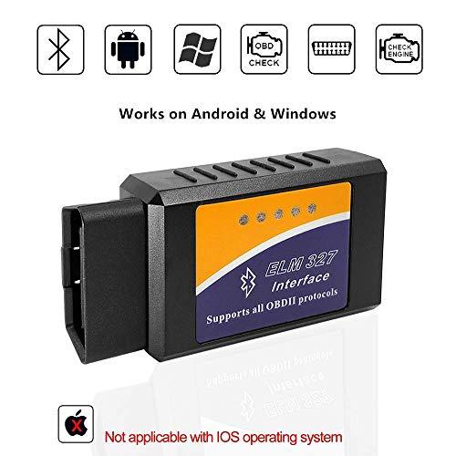 Beizkna ELM327 OBD2 Bluetooth Diagnosegerät Scanner Adapter for Android und Windows für Check Engine Licht mit Torque Pro App