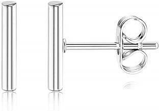 Best 14k white gold bar earrings Reviews