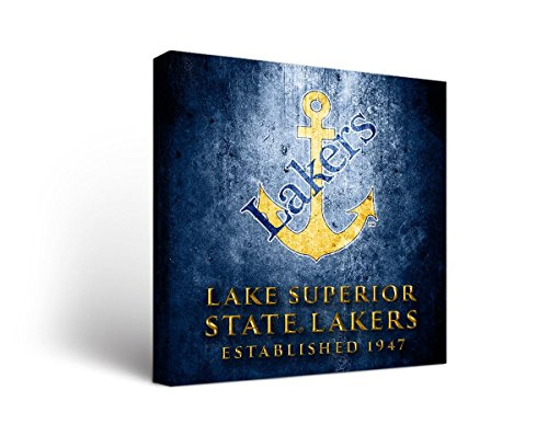 Victory Tailgate Lake Superior State University Lakers Canvas Wall Art Museum Design (24x36) image