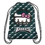 FOCO NFL Philadelphia Eagles Hello Kitty Drawstring Backpack - Team Color