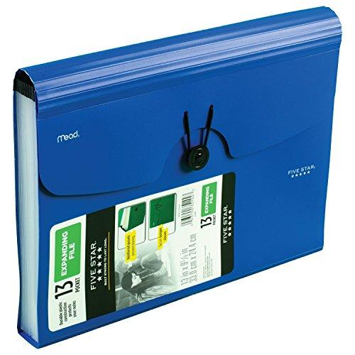 Five Star Expanding File Folder, 13-Pocket Expandable File Folder, Color Selected for You, 1 Count (35144) Photo #7