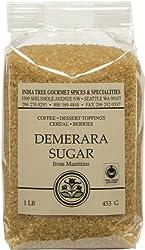 India Tree Demerara Sugar 16 Ounce -- 6 per case