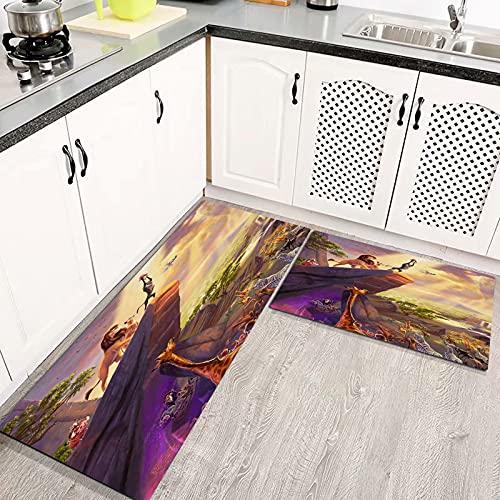 Alfombras Cocina Goma Alfombra de Baño Ducha 2PCS El Rey León alfombras de Cocina Antideslizantes Lavables