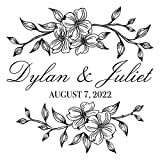 Personalized Dogwood Cornus Floral Decal, Custom Wedding Dance Floor Sticker, Over 30 Colors & Several Sizes
