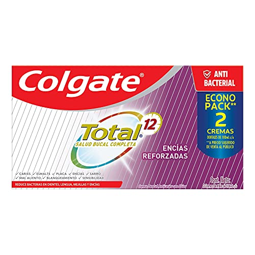 Colgate Total 12 Pasta Dental Encías Reforzadas, Salud Bucal Completa,...