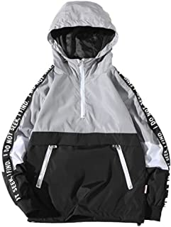 Jackets For Men With Hood Liraly Men's Loose Hooded Assault Coat Large Size Jacket Clothing
