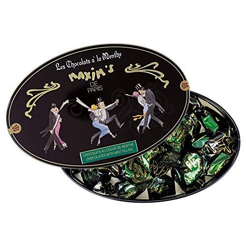 Boîte ovale 25 chocolats coeur de menthe