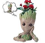 Diligencer Nette Baby Groot Pflanzer Blumentopf Baum Mann Blumentopf Mit Drainage Loch Bleistift...