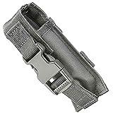 M1Surplus Molle Compatible Wolf Grey Flashlight Belt Holster Pouch Fits Surefire G2X PRO 6PX EB2 P2X UTG VISM Tactical Lights