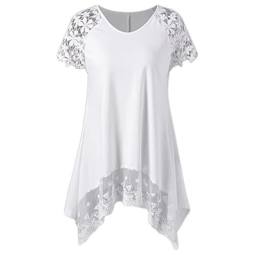 d27540b1d3 DIKEWANG Raglan Sleeve Lace Blouse